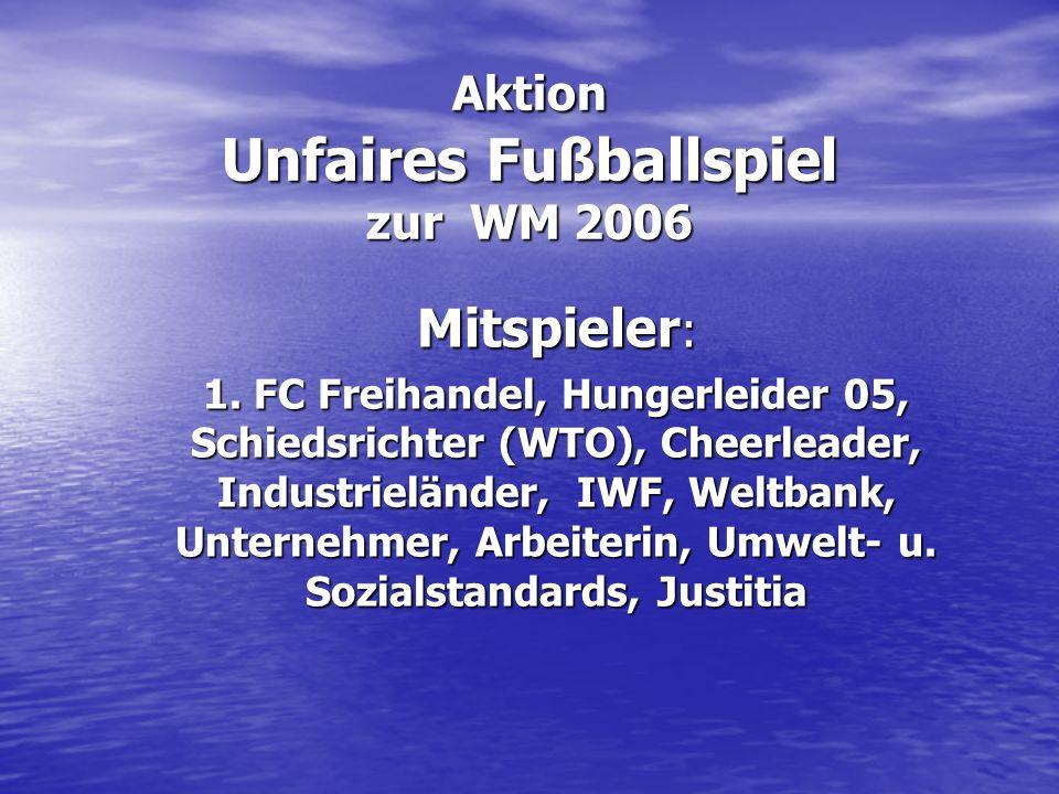 Aktion Unfaires Fußballspiel zur WM 2006