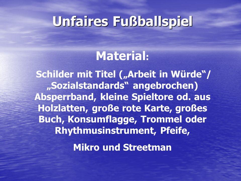 Unfaires Fußballspiel