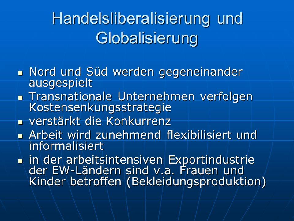 Handelsliberalisierung und Globalisierung