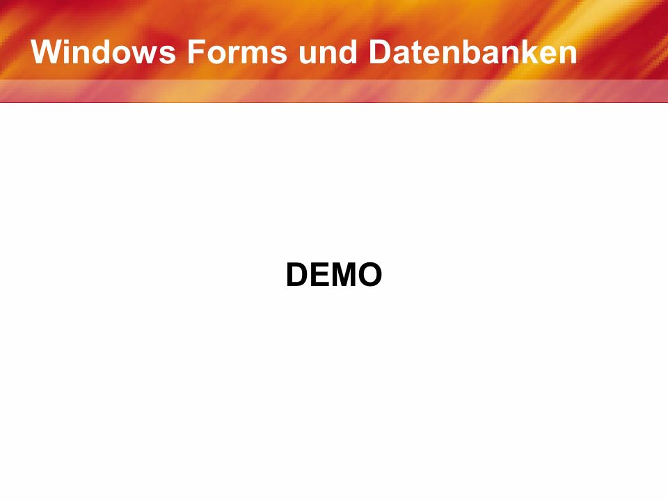 Windows Forms und Datenbanken