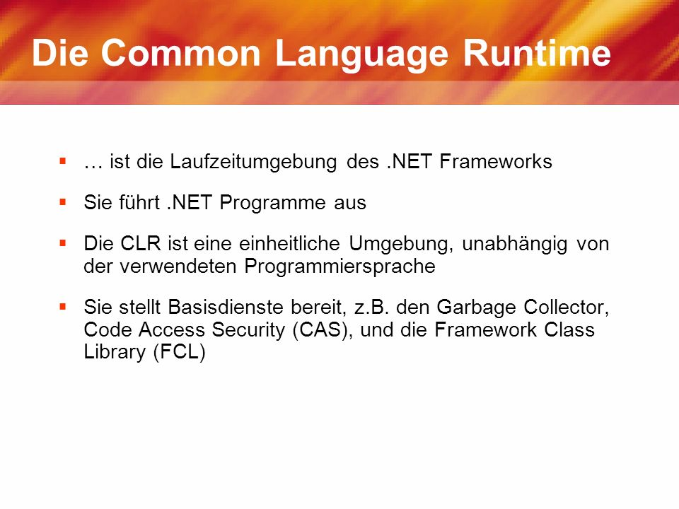 Die Common Language Runtime