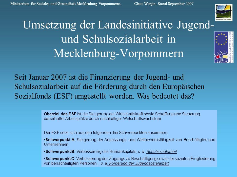 Ministerium für Soziales und Gesundheit Mecklenburg-Vorpommerns; Claus Wergin; Stand September 2007