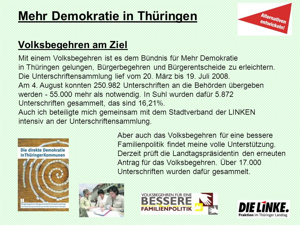 Mehr Demokratie in Thüringen