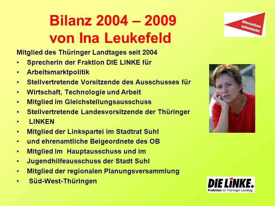 Bilanz 2004 – 2009 von Ina Leukefeld