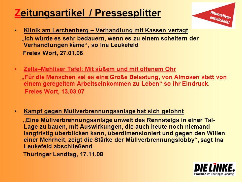Zeitungsartikel / Pressesplitter
