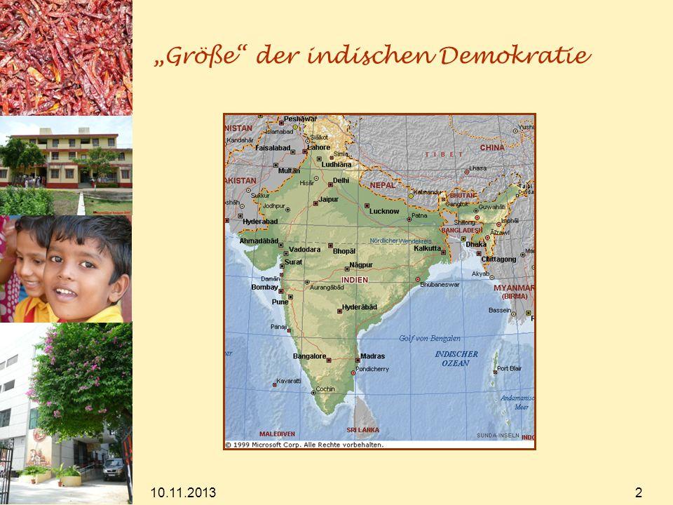 """""""Größe der indischen Demokratie"""
