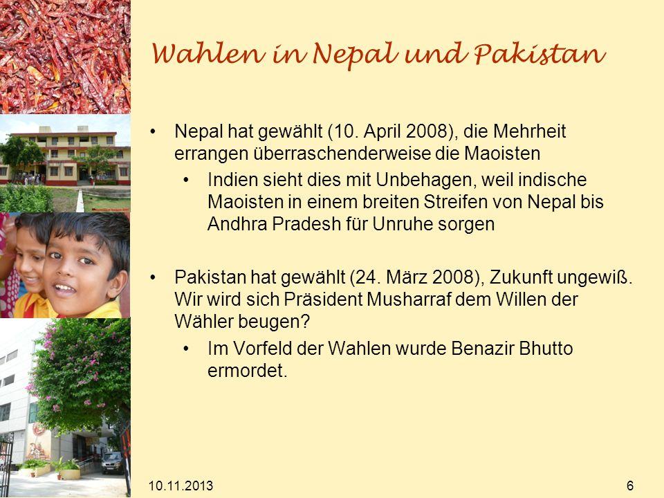 Wahlen in Nepal und Pakistan
