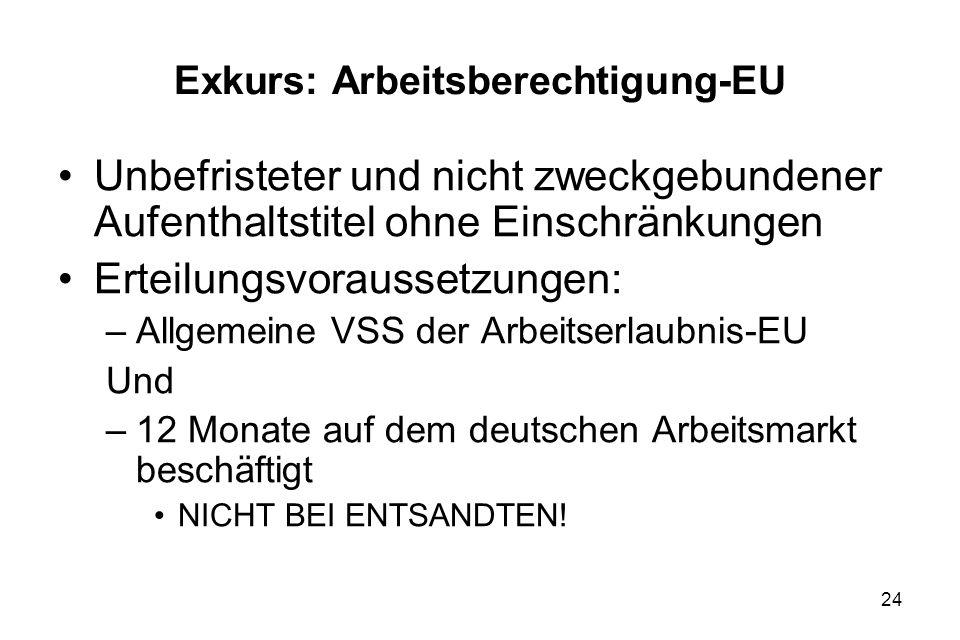Exkurs: Arbeitsberechtigung-EU