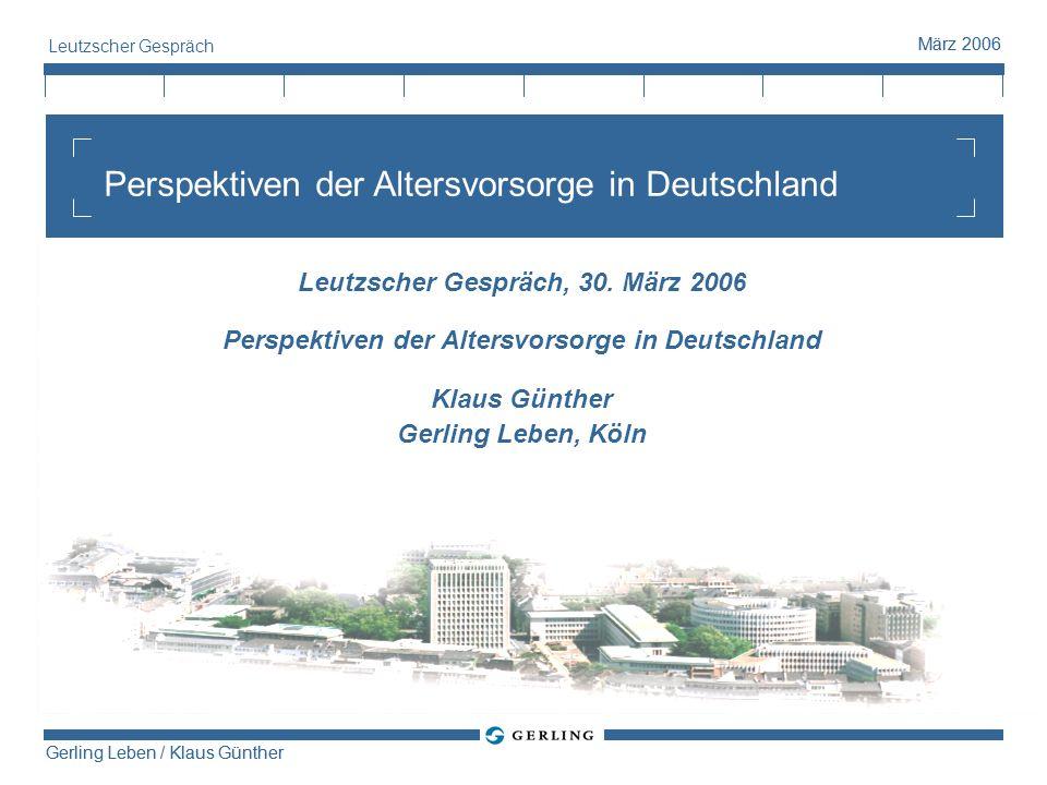 Perspektiven der Altersvorsorge in Deutschland
