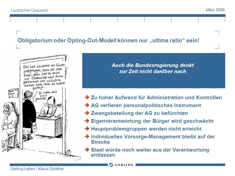"""Obligatorium oder Opting-Out-Modell können nur """"ultima ratio sein!"""