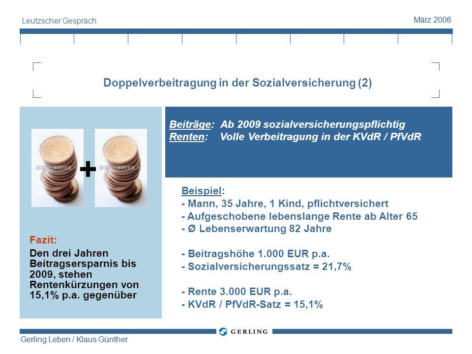 Doppelverbeitragung in der Sozialversicherung (2)