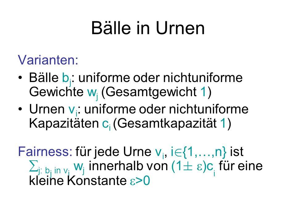 Bälle in Urnen Varianten: