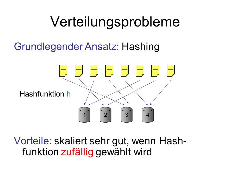 Verteilungsprobleme Grundlegender Ansatz: Hashing