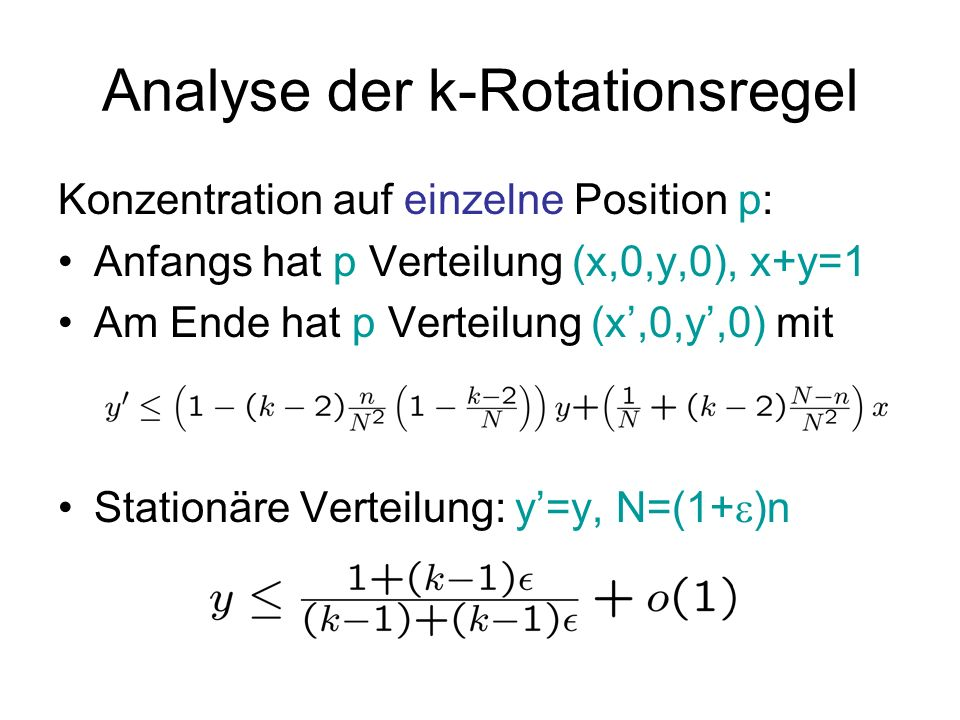 Analyse der k-Rotationsregel