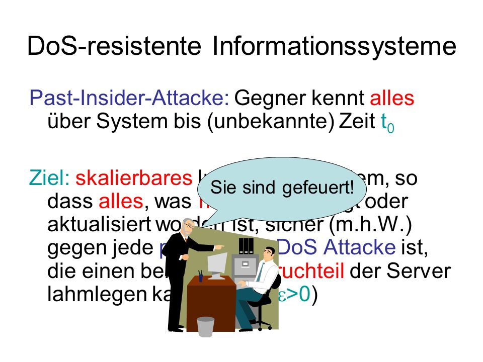 DoS-resistente Informationssysteme