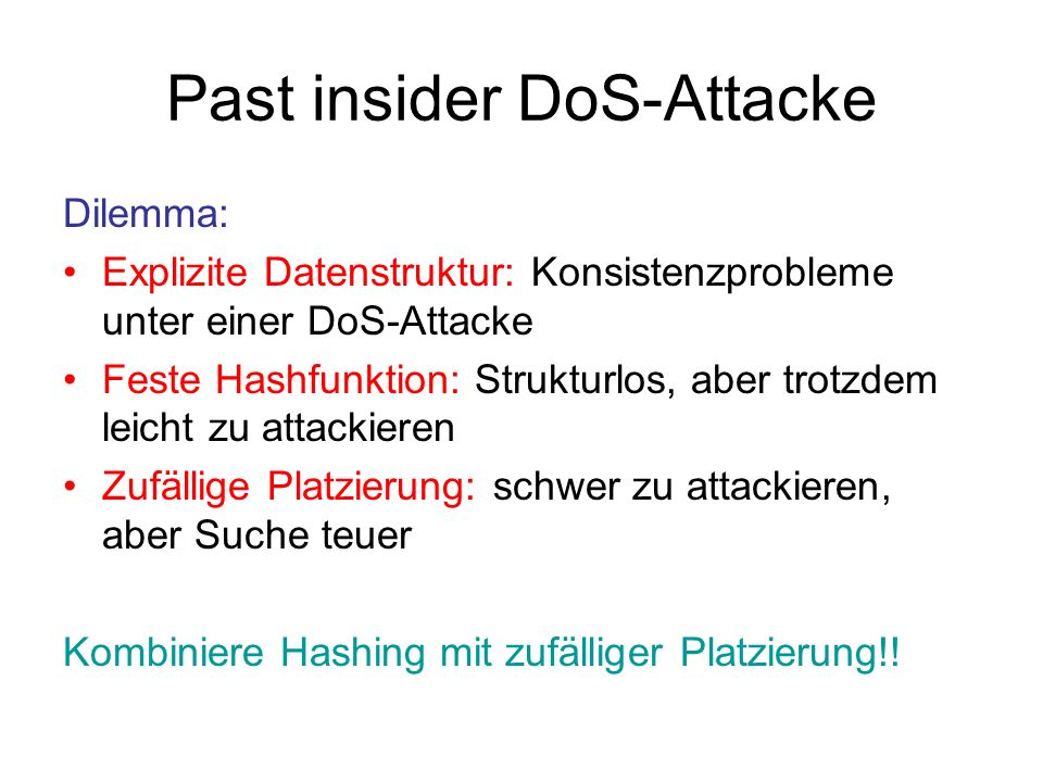 Past insider DoS-Attacke