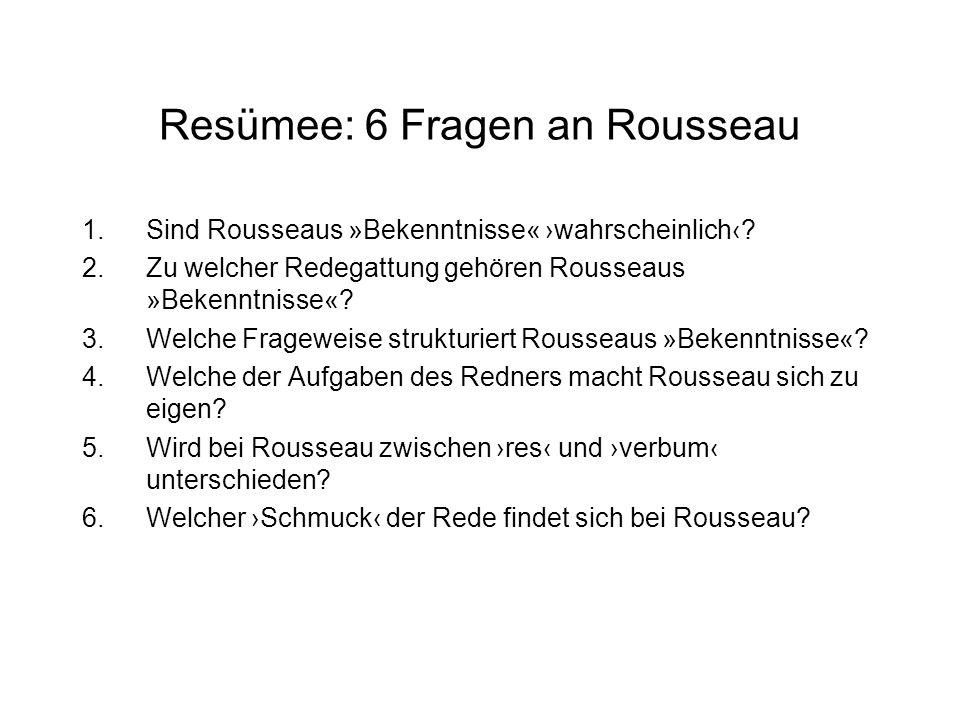 Resümee: 6 Fragen an Rousseau