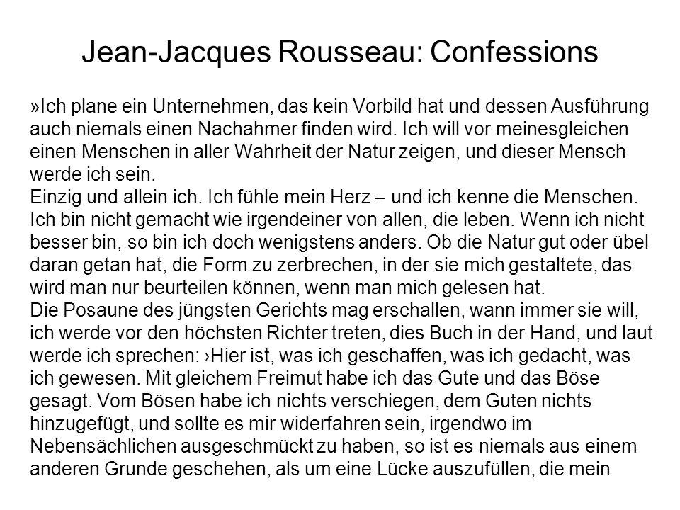 Jean-Jacques Rousseau: Confessions