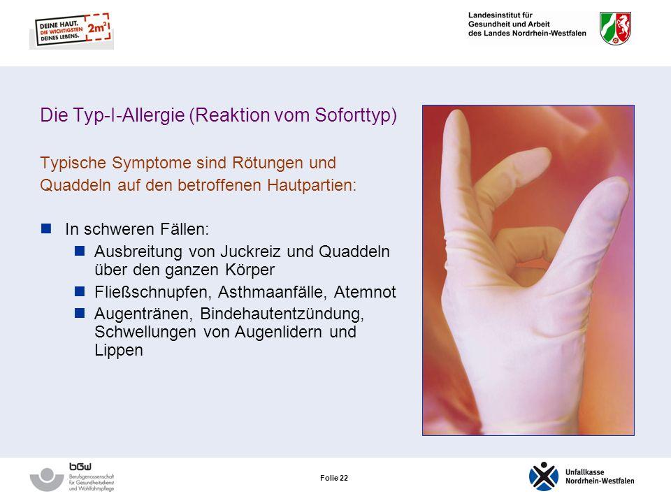 Die Typ-I-Allergie (Reaktion vom Soforttyp)