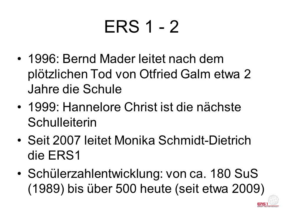 ERS 1 - 2 1996: Bernd Mader leitet nach dem plötzlichen Tod von Otfried Galm etwa 2 Jahre die Schule.