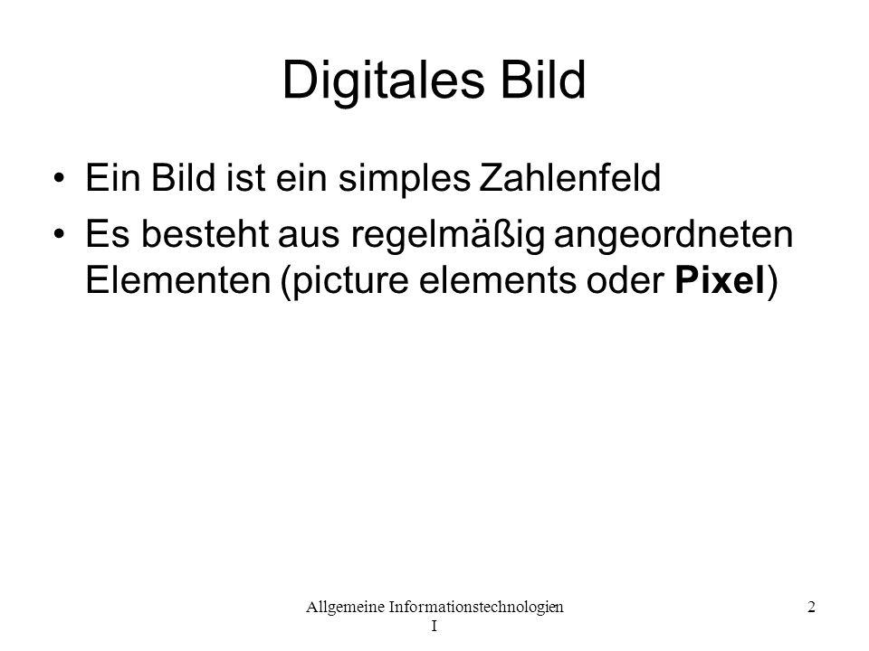 Digitales Bild Ein Bild ist ein simples Zahlenfeld