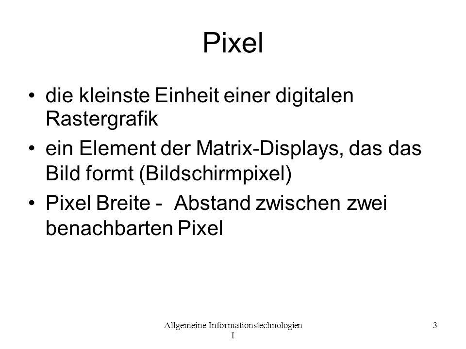 Pixel die kleinste Einheit einer digitalen Rastergrafik