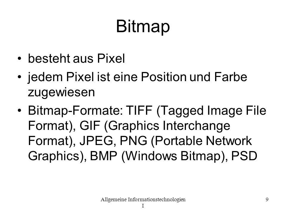 Bitmap besteht aus Pixel