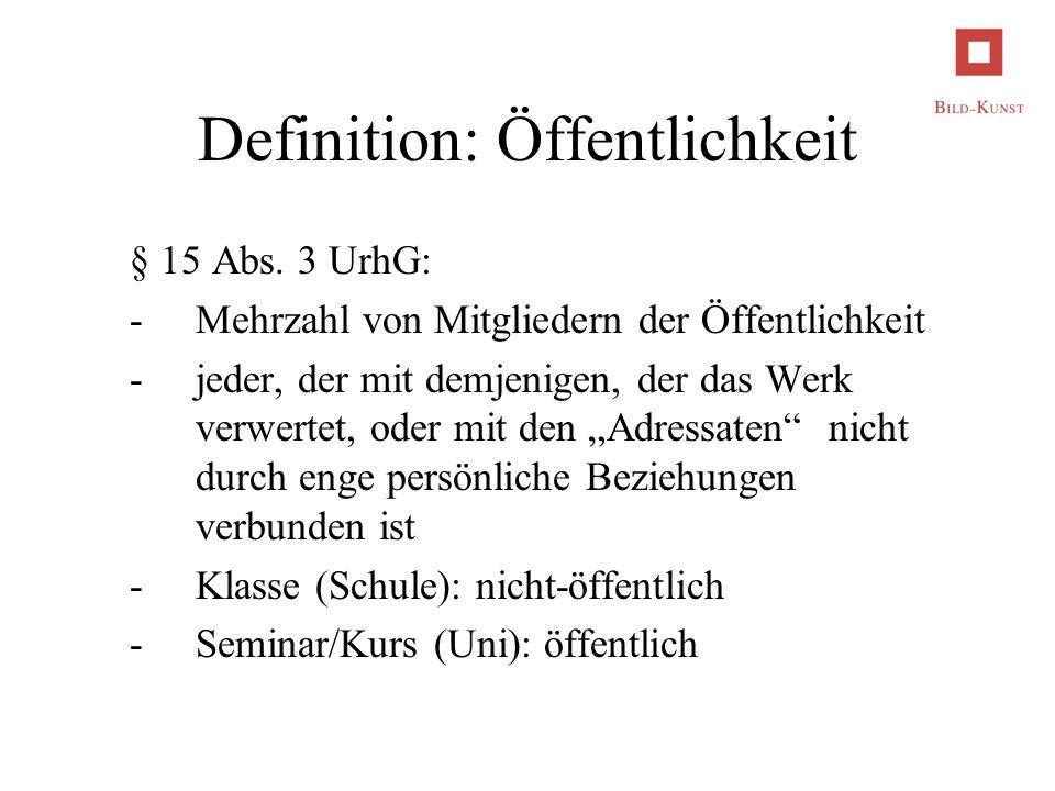 Definition: Öffentlichkeit