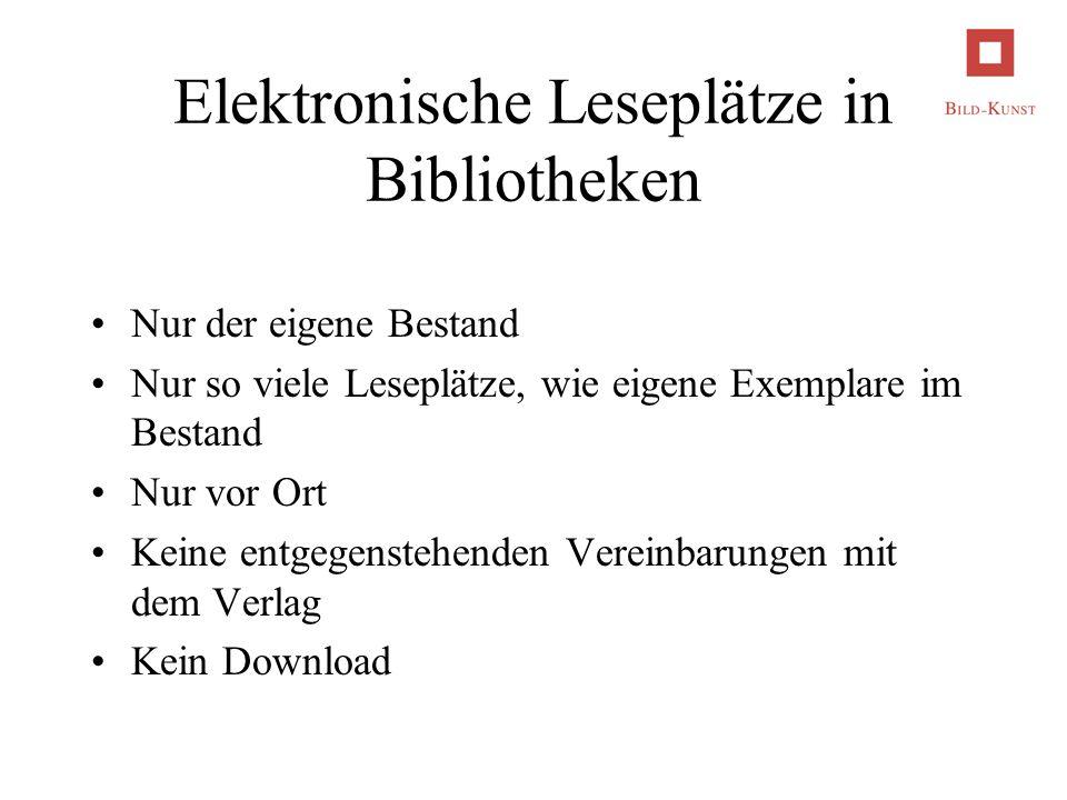 Elektronische Leseplätze in Bibliotheken