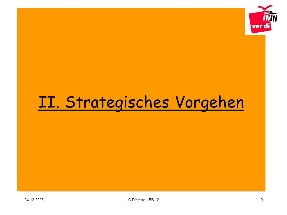 II. Strategisches Vorgehen