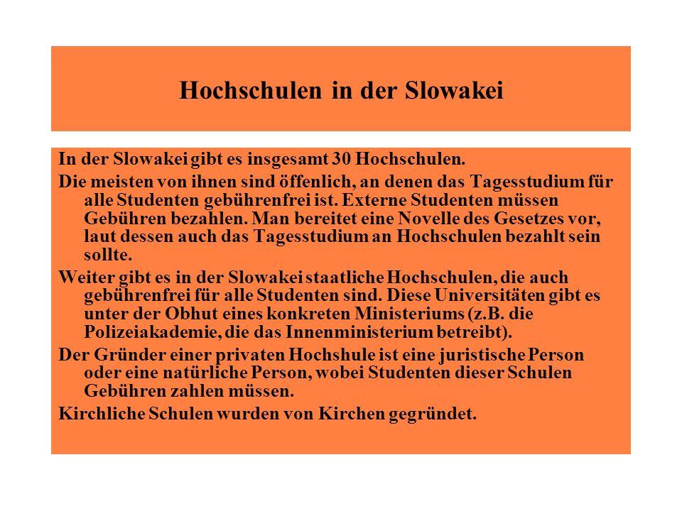 Hochschulen in der Slowakei