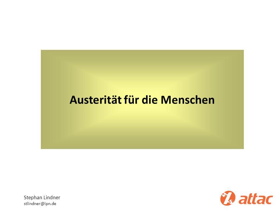 Austerität für die Menschen