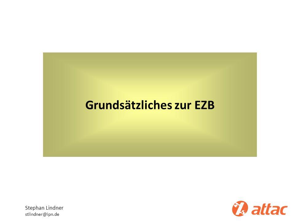 Grundsätzliches zur EZB