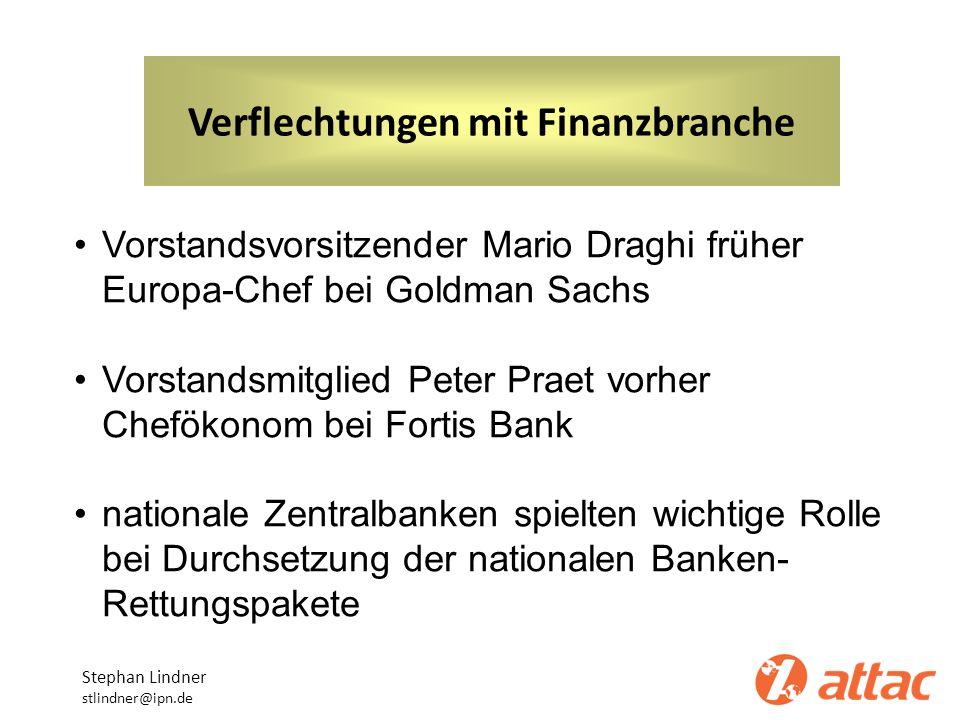 Verflechtungen mit Finanzbranche