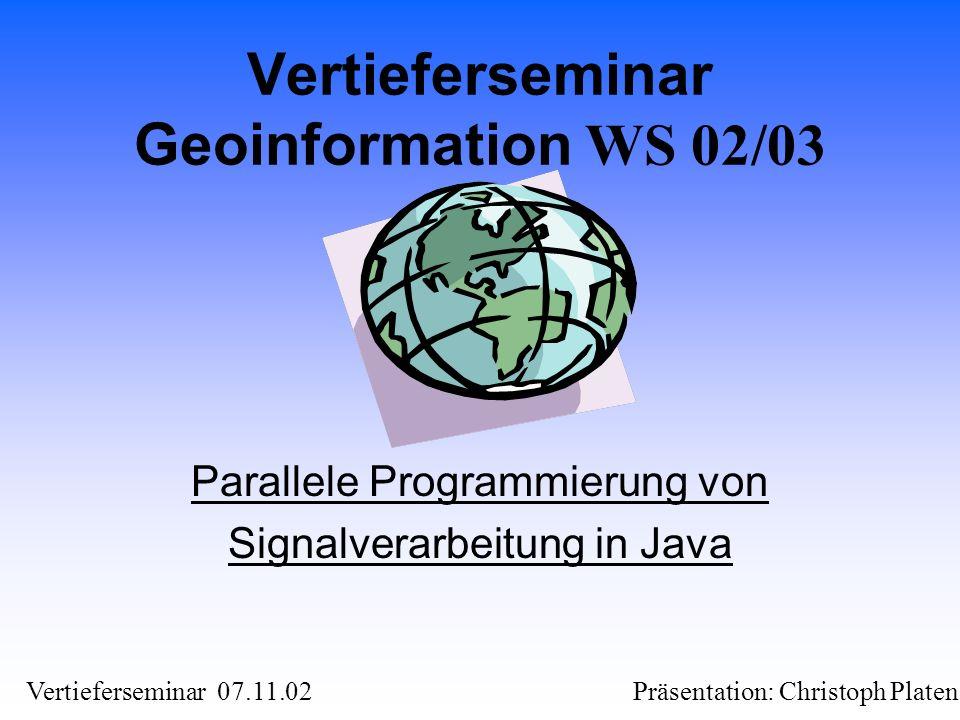 Vertieferseminar Geoinformation WS 02/03