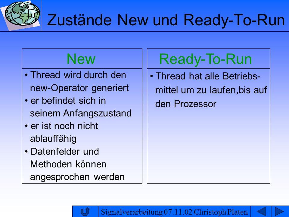 Zustände New und Ready-To-Run