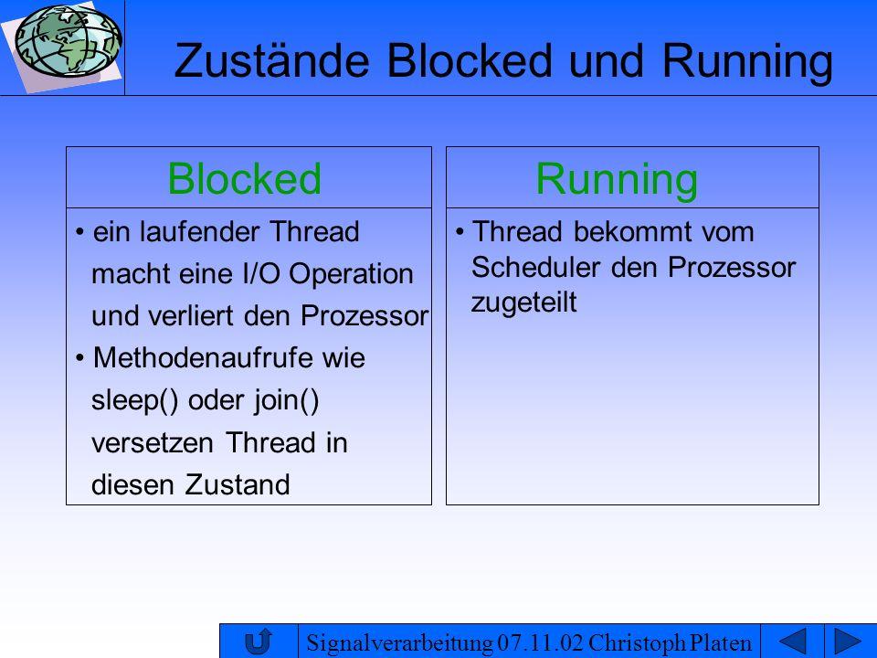 Zustände Blocked und Running