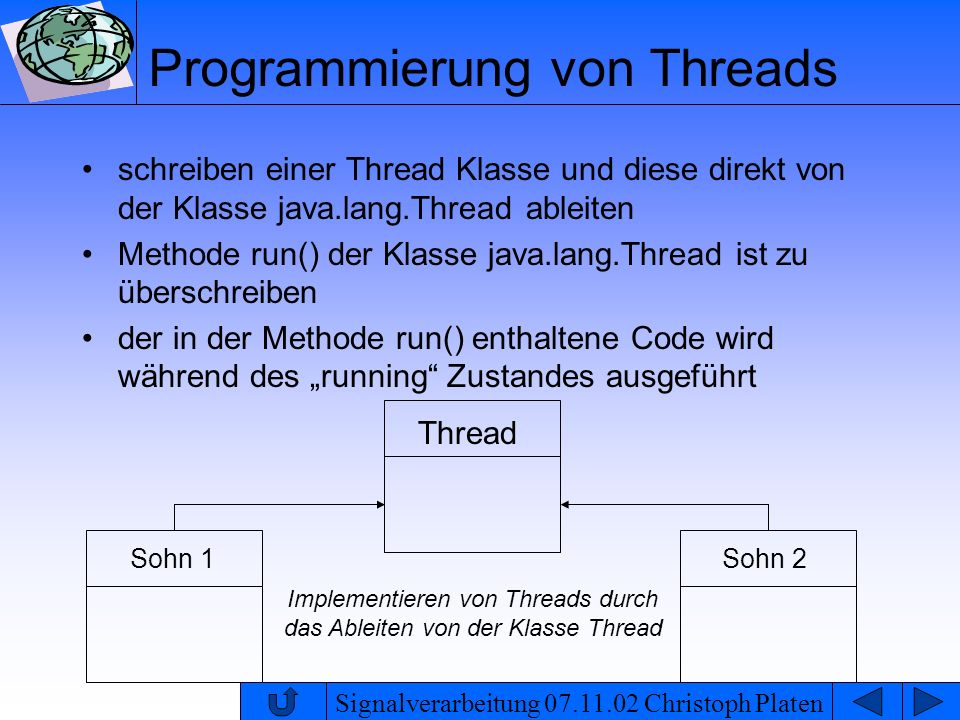 Programmierung von Threads