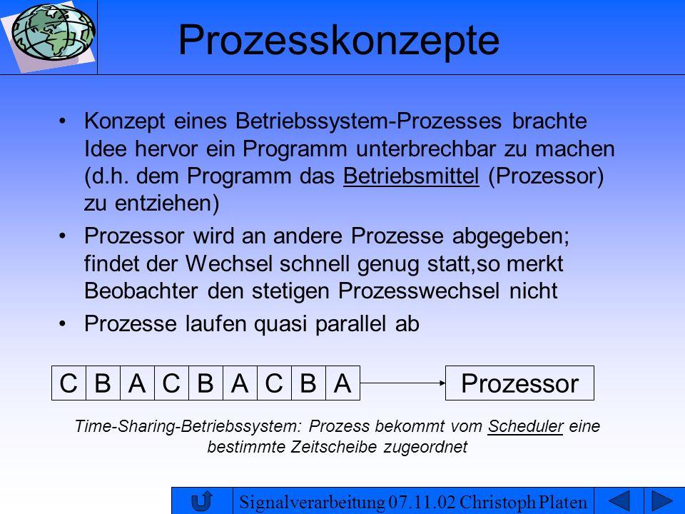 Prozesskonzepte C B A Prozessor