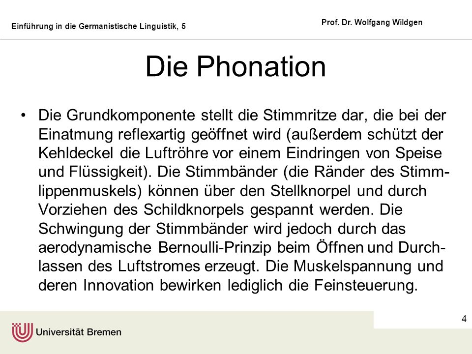 Die Phonation