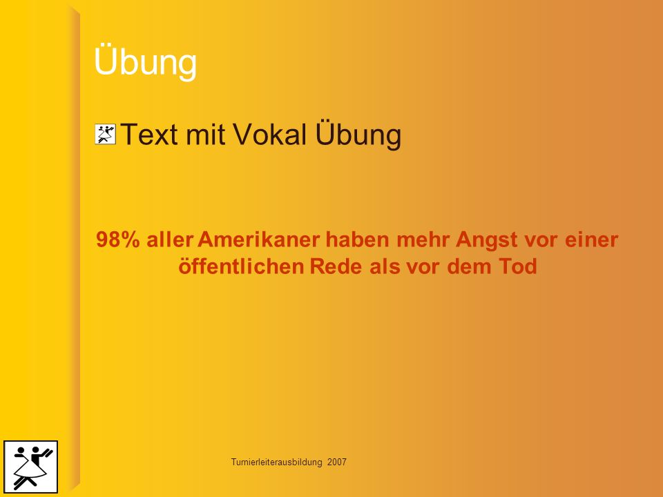Übung Text mit Vokal Übung