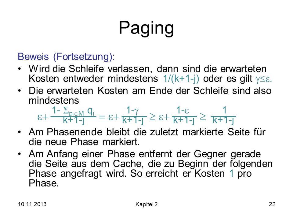 Paging e+ = e+  e+  Beweis (Fortsetzung):