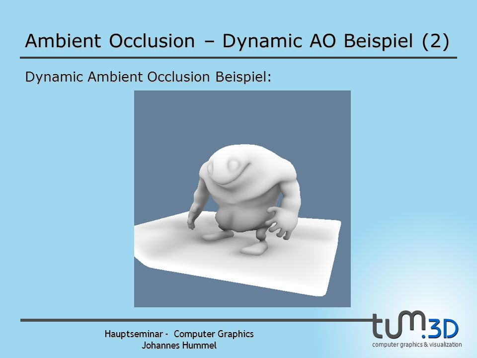 Ambient Occlusion – Dynamic AO Beispiel (2)