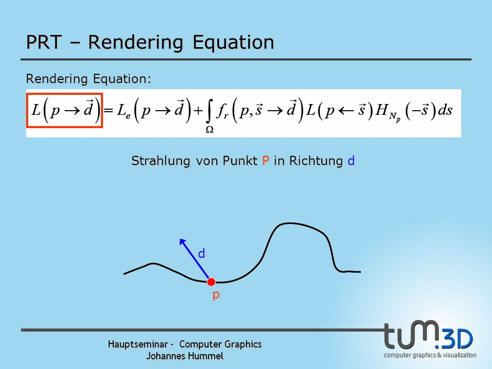 PRT – Rendering Equation