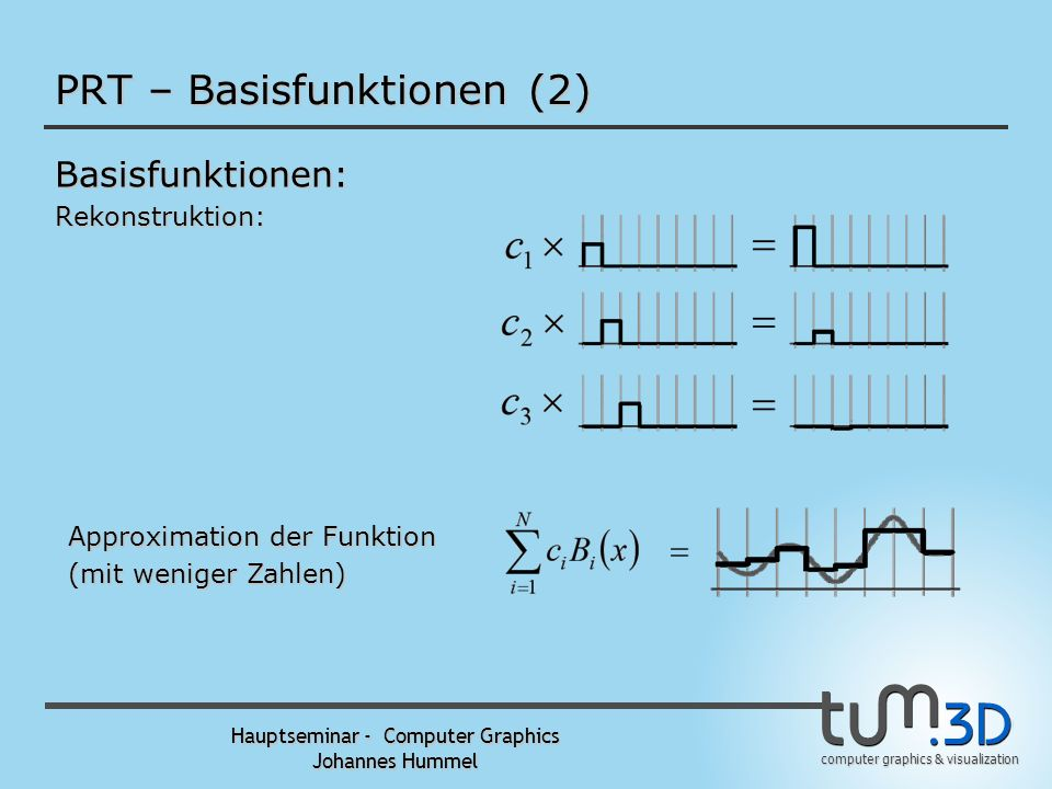 PRT – Basisfunktionen (2)
