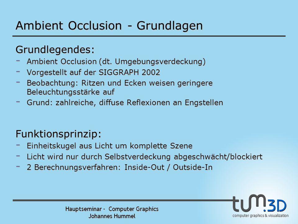 Ambient Occlusion - Grundlagen