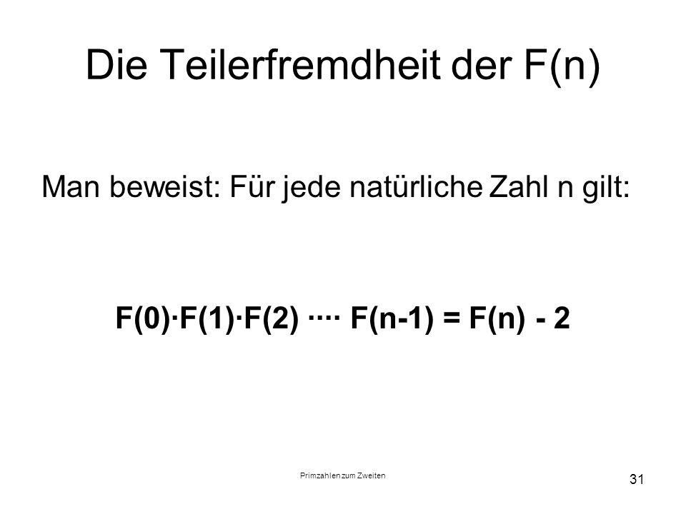 Die Teilerfremdheit der F(n)