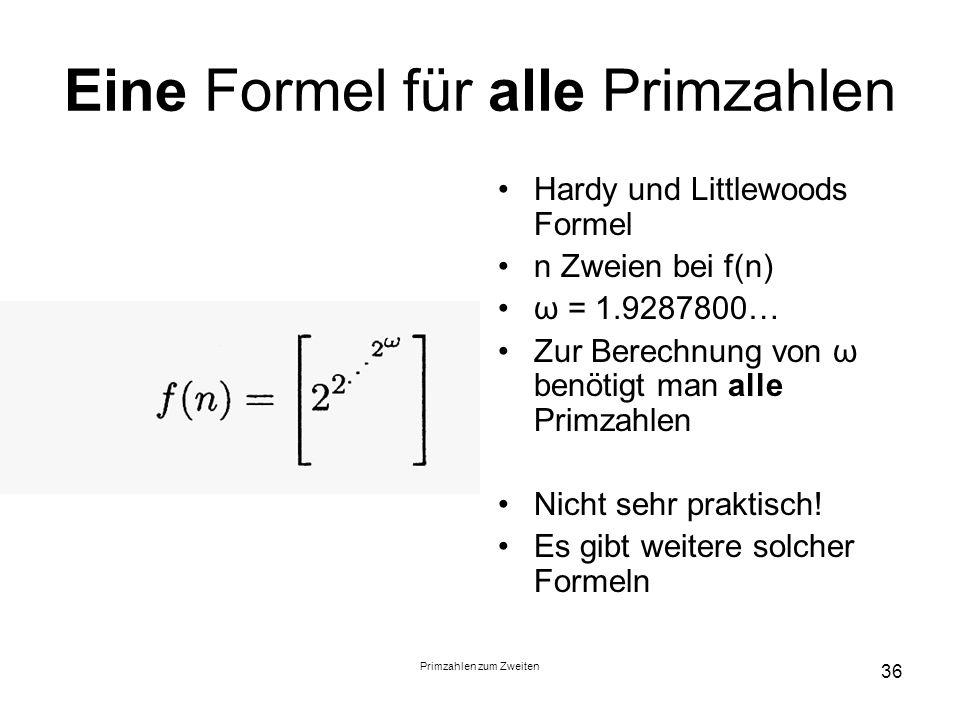 Eine Formel für alle Primzahlen