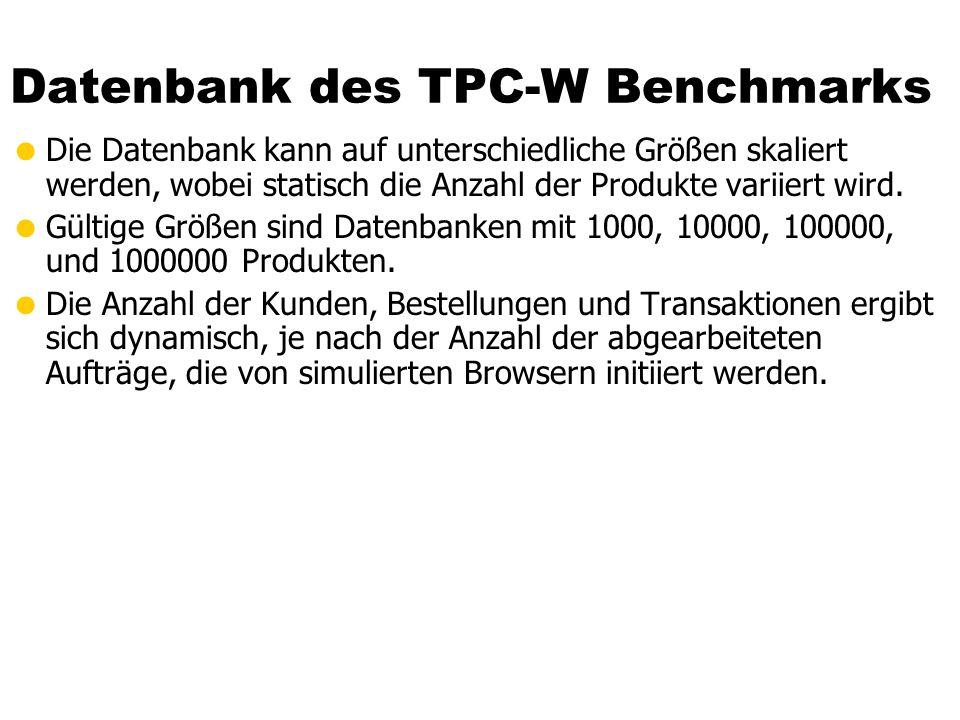 Datenbank des TPC-W Benchmarks