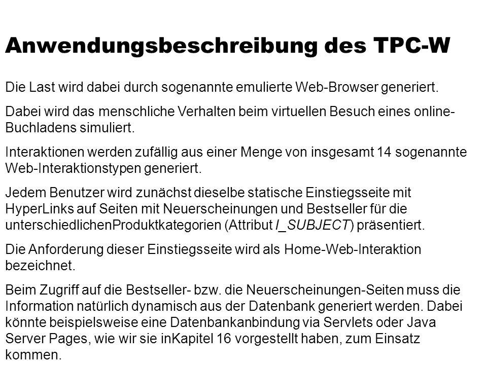 Anwendungsbeschreibung des TPC-W